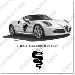 alfa roméo dragon sticker vinyle