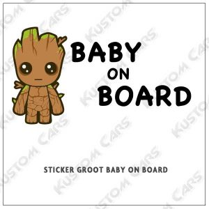 Sticker bébé à bord baby groot marvel