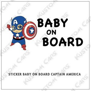 captain america baby on board