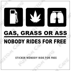sticker nobody ride for free