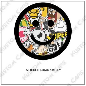 sticker bomb smiley