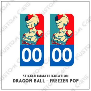 sticker freezer plaque immatriculation