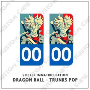 sticker trunks plaque immatriculation