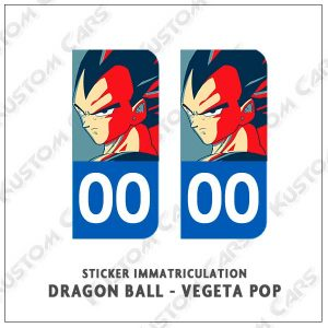 sticker vegeta plaque immatriculation
