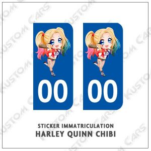 Sticker autocollant plaque immatriculation Harley Quiin