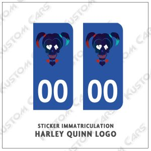 Sticker autocollant plaque immatriculation Harley Quinn