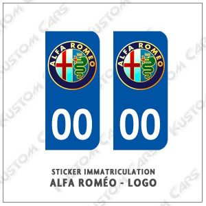 Sticker autocollant plaque immatriculation alfa roméo