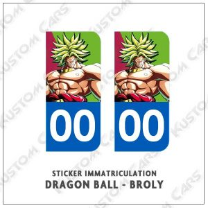 stickers plaque immatriculation dbz broly
