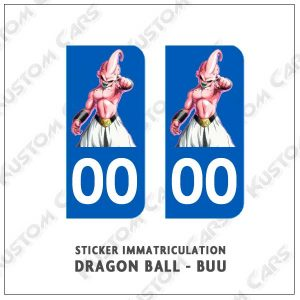 stickers plaque immatriculation dbz buu