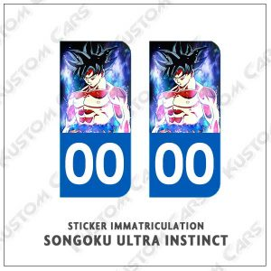 stickers plaques goku ultra instinct