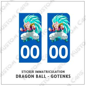 stickers plaque immatriculation dbz gotenks