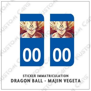stickers plaque majin vegeta