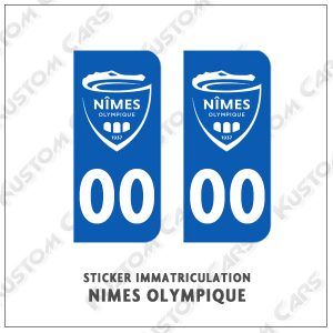sticker plaque nimes olympique